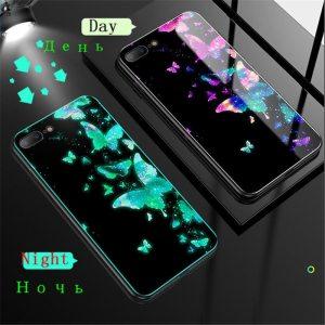 Luminous Tempered Glass Case For iPhone 5 5S SE 6 6S 7 8 Plus Case Back Innrech Market.com