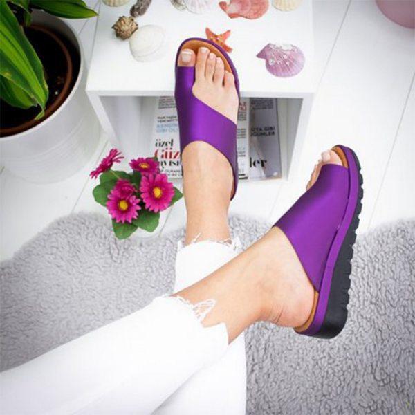 Puimentiua Women slippers Flat Sole Casual Soft Big Toe Foot Sandal Women Shoes Comfy Platform Orthopedic 2 Puimentiua Women slippers Flat Sole Casual Soft Big Toe Foot Sandal Women Shoes Comfy Platform Orthopedic Bunion Corrector