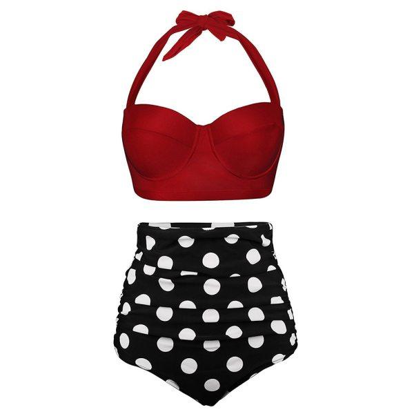 Push Up Women Swimsuit High Waist Bikinis Plus Size Swimwear Vintage Bikini Set Bathing Suits Retro 1 Push Up Women Swimsuit High Waist Bikinis Plus Size Swimwear Vintage Bikini Set Bathing Suits Retro Floral Beach Wear Biquini