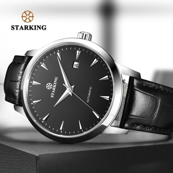 STARKING Mens Clock Automatic Mechanical Watch All Stainless Steel Simple Business Male Watch xfcs Luxury Brand 1 STARKING Mens Clock Automatic Mechanical Watch All Stainless Steel Simple Business Male Watch xfcs Luxury Brand Dress WristWatch