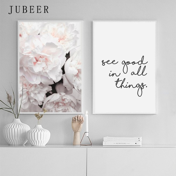 Scandinavian Style Peony Flower Canvas Print Large Wall Art Posters and Prints Quote Poster Flower Wall Scandinavian Style Peony Flower Canvas Print Large Wall Art Posters and Prints Quote Poster Flower Wall Pictures for Living Room