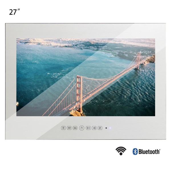 Souria New 27inch WiFi Full HD 1080P Android Smart Magic Real Mirror TV Advertising Display LCD Souria New 27inch WiFi Full-HD 1080P Android Smart Magic Real Mirror TV Advertising Display LCD Bathroom Home Shower Room TV