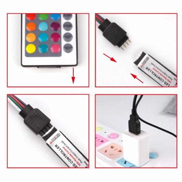 USB LED Strip DC 5V Flexible Light Lamp 60LEDs SMD 2835 50CM 1M 2M 3M 4M 2 USB LED Strip DC 5V Flexible Light Lamp 60LEDs SMD 2835 50CM 1M 2M 3M 4M 5M Mini 3Key Desktop Decor Tape TV Background Lighting