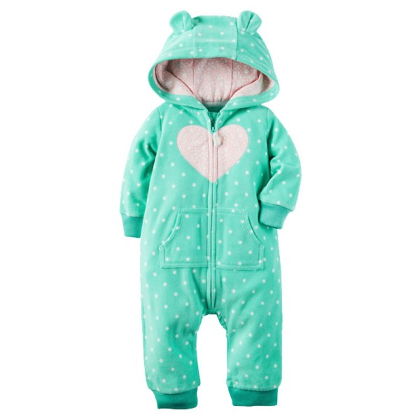 2018 New Bebes Clothes Newborn One Piece Fleece Hooded Jumpsuit Long Sleeved Spring Baby Girls Boys 3 2018 New Bebes Clothes Newborn One Piece Fleece Hooded Jumpsuit Long Sleeved Spring Baby Girls Boys Body Suits Romper