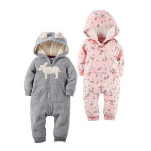 2018 New Bebes Clothes Newborn One Piece Fleece Hooded Jumpsuit Long Sleeved Spring Baby Girls Boys Innrech Market.com