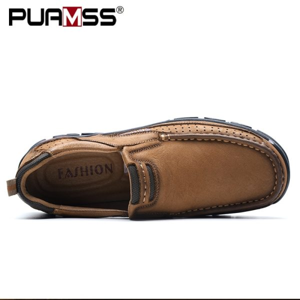 2019 New Men Shoes Genuine Leather Men Flats Loafers High Quality Outdoor Men Sneakers Male Casual 2 2019 New Men Shoes Genuine Leather Men Flats Loafers High Quality Outdoor Men Sneakers Male Casual Shoes Plus Size 48