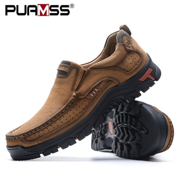 2019 New Men Shoes Genuine Leather Men Flats Loafers High Quality Outdoor Men Sneakers Male Casual 2019 New Men Shoes Genuine Leather Men Flats Loafers High Quality Outdoor Men Sneakers Male Casual Shoes Plus Size 48