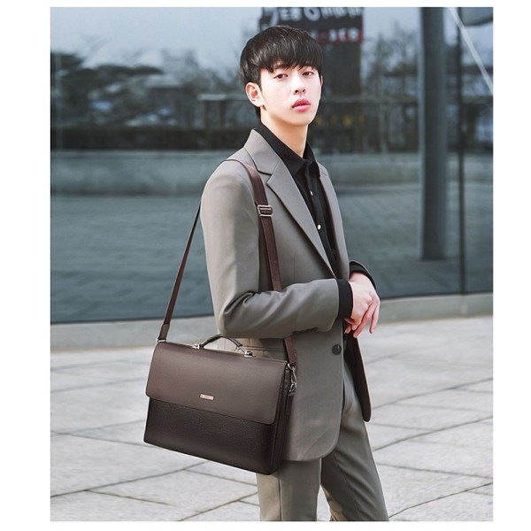 2020 Fashion Business Men Briefcase Leather Laptop Handbag Tote Casual Man Bag For male Shoulder Bag 1 2020 Fashion Business Men Briefcase Leather Laptop Handbag Tote Casual Man Bag For male Shoulder Bag Male Office Messenger Bag