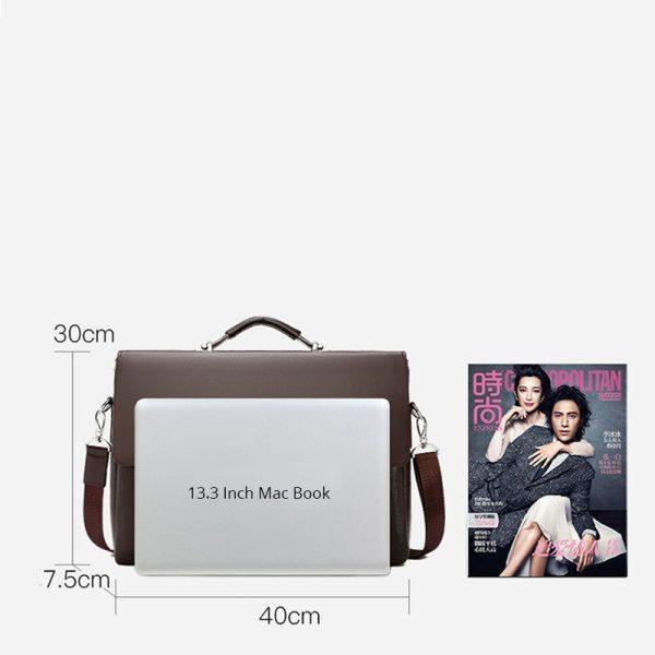 2020 Fashion Business Men Briefcase Leather Laptop Handbag Tote Casual Man Bag For male Shoulder Bag 3 2020 Fashion Business Men Briefcase Leather Laptop Handbag Tote Casual Man Bag For male Shoulder Bag Male Office Messenger Bag