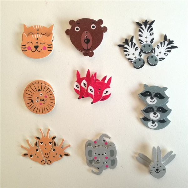 50pc Mixed Animals 2Hole Wooden Buttons for Scrapbooking Crafts DIY Baby Children Clothing Sewing Accessories Button 50pc Mixed Animals 2Hole Wooden Buttons for Scrapbooking Crafts DIY Baby Children Clothing Sewing Accessories Button Decoration