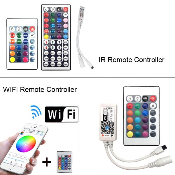 5M 5050 RGB WIFI LED Strip light Waterproof RGB 10M 15M led ribbon tape Remote WIFI 1 5M 5050 RGB WIFI LED Strip light Waterproof RGB 10M 15M led ribbon tape Remote WIFI Wireless Controller 12V power adapter Kit
