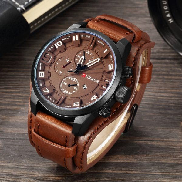 CURREN Top Brand Luxury Mens Watches Male Clocks Date Sport Military Clock Leather Strap Quartz Business CURREN Top Brand Luxury Mens Watches Male Clocks Date Sport Military Clock Leather Strap Quartz Business Men Watch Gift 8225