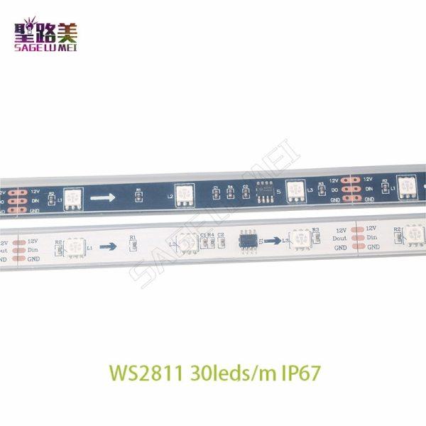 DC12V 5M WS2811 LED pixel strip light Rgb Full color 5050 Led strip ribbon flexible Addressable 2 DC12V 5M WS2811 LED pixel strip light Rgb Full color 5050 Led strip ribbon flexible Addressable Digital LED tape 1 Ic Control 3