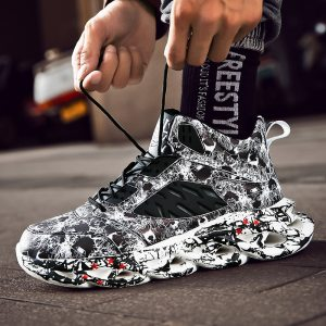 Fashion Men s Hip Hop Street Dance Shoes Graffiti High Top Chunky Sneakers Autumn Summer Casual Innrech Market.com