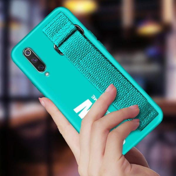 For Xiaomi Mi 9T 9 SE 8 Lite Pro 6 6X A2 A1 Note 10 Max 2 For Xiaomi Mi 9T 9 SE 8 Lite Pro 6 6X A2 A1 Note 10 Max 2 3 Mix 2S CC9 CC9E Redmi K20 Case Silicon Matte Cover Hand Strap Funda