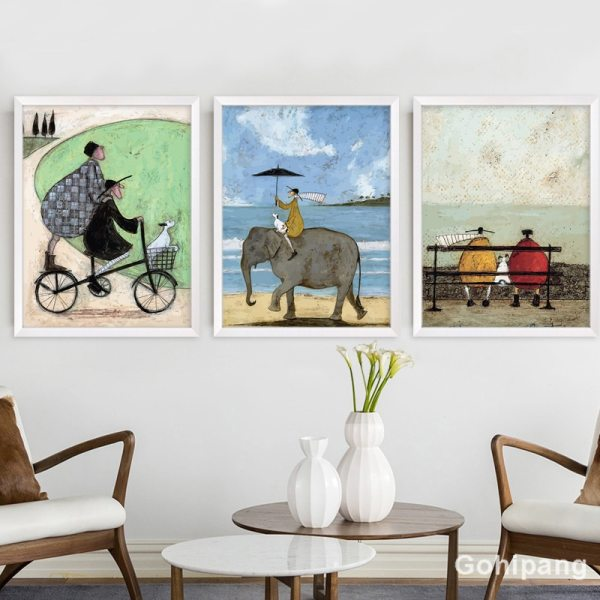 Gohipang Happy Family Abstract Love Canvas Painting Vintage Posters Prints Scandinavian Nordic Wall Art Picture For 1 Gohipang Happy Family Abstract Love Canvas Painting Vintage Posters Prints Scandinavian Nordic Wall Art Picture For Bedroom Home
