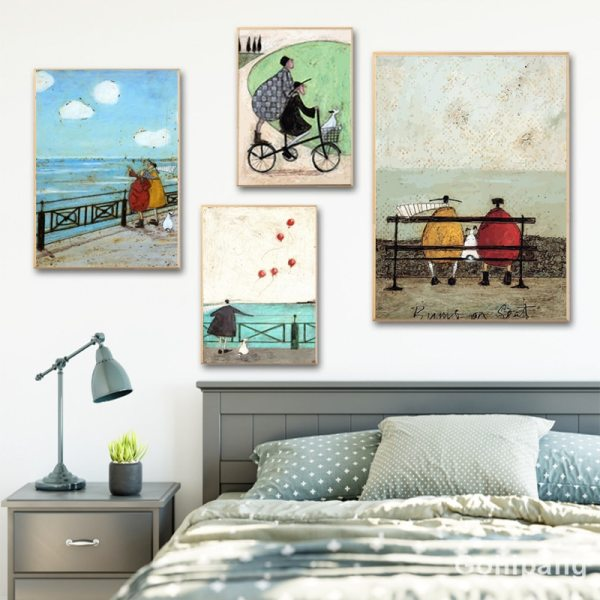 Gohipang Happy Family Abstract Love Canvas Painting Vintage Posters Prints Scandinavian Nordic Wall Art Picture For 2 Gohipang Happy Family Abstract Love Canvas Painting Vintage Posters Prints Scandinavian Nordic Wall Art Picture For Bedroom Home