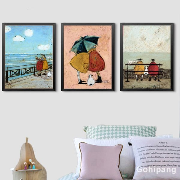 Gohipang Happy Family Abstract Love Canvas Painting Vintage Posters Prints Scandinavian Nordic Wall Art Picture For Gohipang Happy Family Abstract Love Canvas Painting Vintage Posters Prints Scandinavian Nordic Wall Art Picture For Bedroom Home