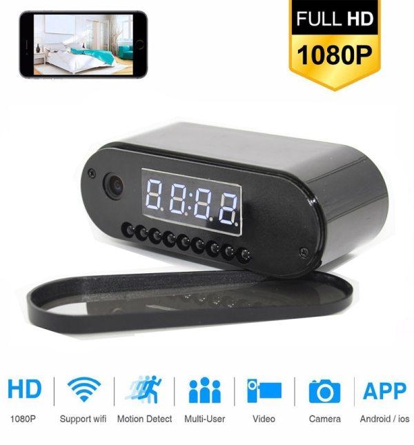 Hebeiros HD 2MP Battery Clock Camera Mini IP WiFi Camera 1080P P2P Camcorder Night Vision Alarm 1 Hebeiros HD 2MP Battery Clock Camera Mini IP WiFi Camera 1080P P2P Camcorder Night Vision Alarm Motion Remote CCTV Camera