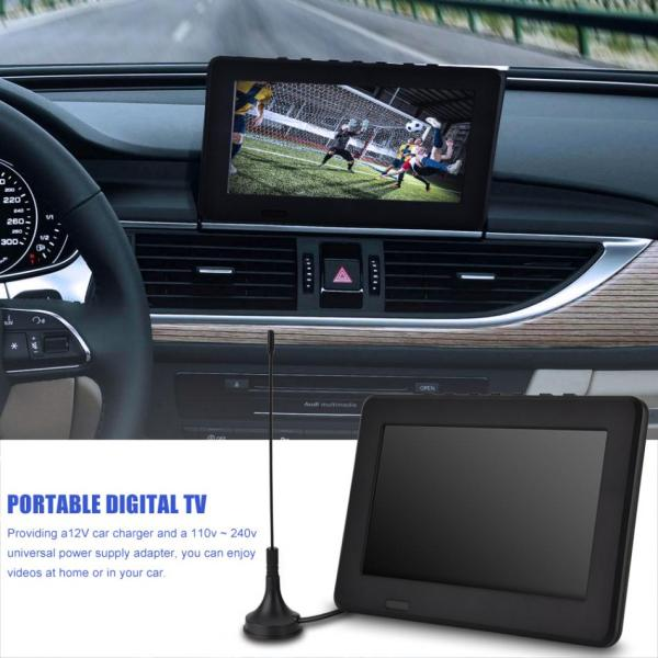 LEADSTAR ISDB T 7 Inches TV 16 9 HD Rechargeable Digital Color Car TV Mini Television LEADSTAR ISDB-T 7 Inches TV 16:9 HD Rechargeable Digital Color Car TV Mini Television Player Digital Analog Television 1080p