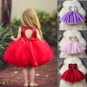 Princess Kids Baby Fancy Wedding Dress Sequins Formal Party Dress For Girl Tutu Kids Clothes Children Innrech Market.com
