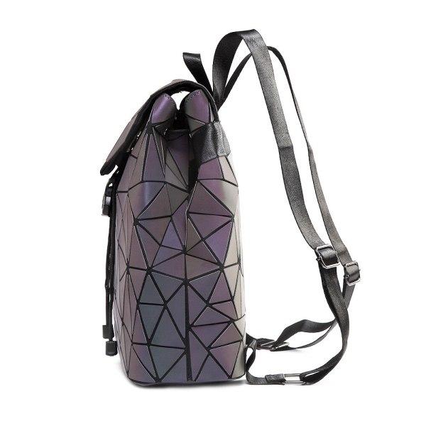 Women Backpack Luminous Geometric Plaid Sequin Female Backpacks For Teenage Girls Bagpack Drawstring Bag Holographic Backpack 2 Women Backpack Luminous Geometric Plaid Sequin Female Backpacks For Teenage Girls Bagpack Drawstring Bag Holographic Backpack