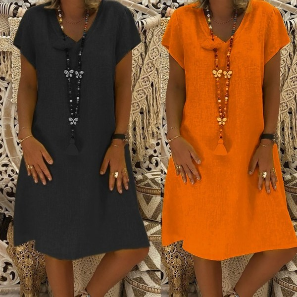 Women Dress Plus Size Dresses Womens Loose Summer Style Feminino Vestido Cotton Casual Big Size Ladies 1 Women Dress Plus Size Dresses Womens Loose Summer Style Feminino Vestido Cotton Casual Big Size Ladies Dress Boho Sundress #40