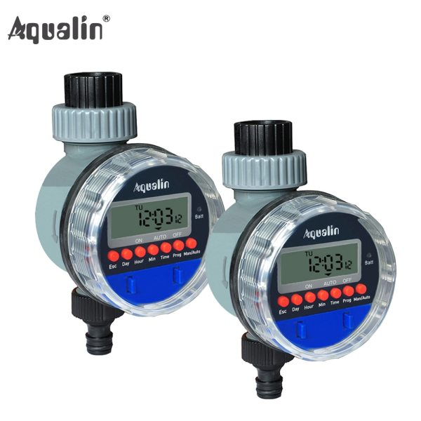 2pcs Electronic LCD Display Home Ball Valve Water Timer Garden Irrigation Watering Timer Controller System 2pcs Electronic LCD Display Home Ball Valve Water Timer Garden Irrigation Watering Timer Controller System