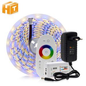 5050 LED Strip RGB RGBW RGBWW 5M 300LEDs RGB Color Changeable Flexible LED Light Remote Controller Innrech Market.com