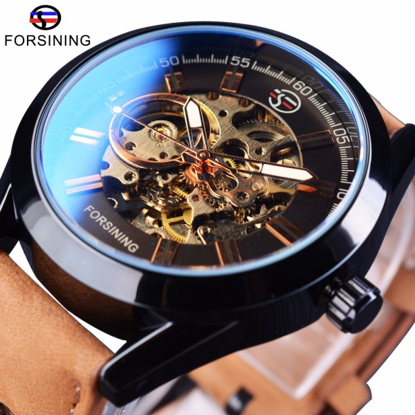 Forsining 2017 Mens Casual Sport Watch Genuine Leather Top Brand Luxury Army Military Automatic Men s Forsining 2017 Mens Casual Sport Watch Genuine Leather Top Brand Luxury Army Military Automatic Men's Wrist Watch Skeleton Clock