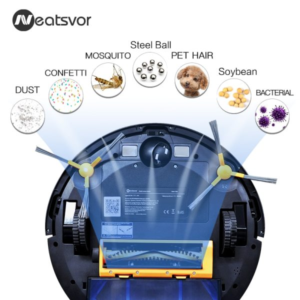 NEATSVOR X500 Robot Vacuum Cleaner 1800PA Poweful Suction 3in1 pet hair home dry wet mopping cleaning 2 NEATSVOR X500 Robot Vacuum Cleaner 1800PA Poweful Suction 3in1 pet hair home dry wet mopping cleaning robot Auto Charge vacuum