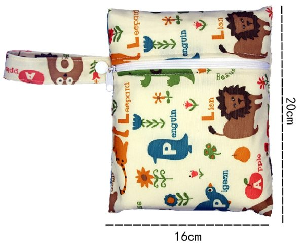 Reusable Nursing Pads Single Zippers Sanitary Pads Washable Wet Bags Nappy Bags Printed Waterproof Wetbag Diaper 1 Reusable Nursing Pads Single Zippers Sanitary Pads Washable Wet Bags Nappy Bags Printed Waterproof Wetbag Diaper Bags 16*20cm