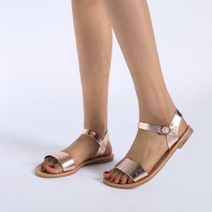SAGACE Women s Sandals Solid Color PU Leather Sandals Women Fashion Style Flat Summer Women Shoes Innrech Market.com