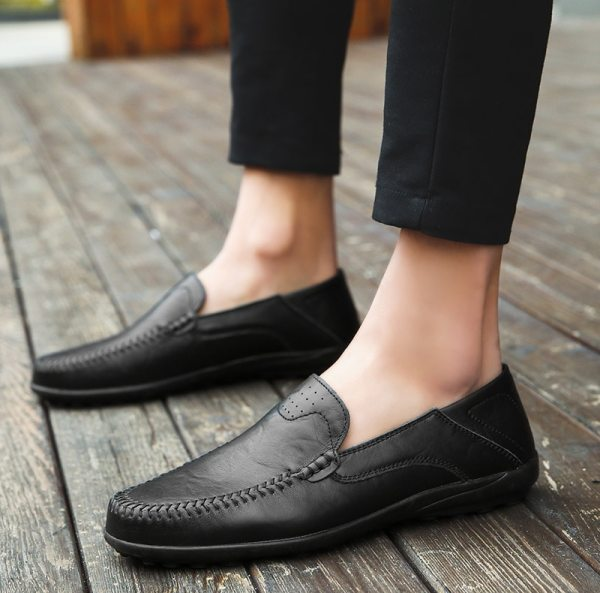 Summer Men Shoes Casual Luxury Brand 2019 Genuine Leather Mens Loafers Moccasins Italian Breathable Slip on 4 Summer Men Shoes Casual Luxury Brand Genuine Leather Mens Loafers Moccasins Italian Breathable Slip on Boat Shoes JKPUDUN