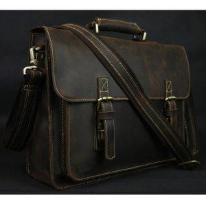 Vintage Crazy Horse Leather Men s Briefcase Laptop Bag Business Bag Genuine Leather Briefcase Men Shoulder Innrech Market.com