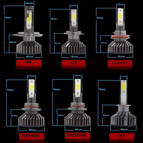 YHKOMS Mini Size Car Headlight H4 H7 LED 3000K 4300K 5000K 6500K 8000K 25000K H1 H8 4 YHKOMS Mini Size Car Headlight H4 H7 LED 3000K 4300K 5000K 6500K 8000K 25000K H1 H8 H9 H11 9005 9006 LED Bulb Auto Fog Light 12V