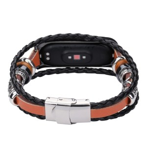 2020 For Xiaomi Mi Band 4 Replacement Leather Beading Bracelet Strap Weave Braided Innrech Market.com