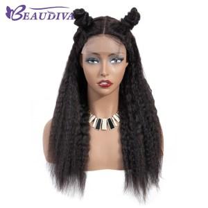 Curly Haman Hair Wig Brazilian Kinky Straight 4 4 Lace Closure Prepluck with baby hair closure Innrech Market.com