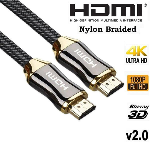 EastVita Zinc Alloy HDMI Cable Ultra HD 1 5 3 5 Meters HDMI Cable V2 0 EastVita Zinc Alloy HDMI Cable Ultra HD 1.5/3/5/ Meters HDMI Cable V2.0 2K x 4K  High Speed + Ethernet HDTV