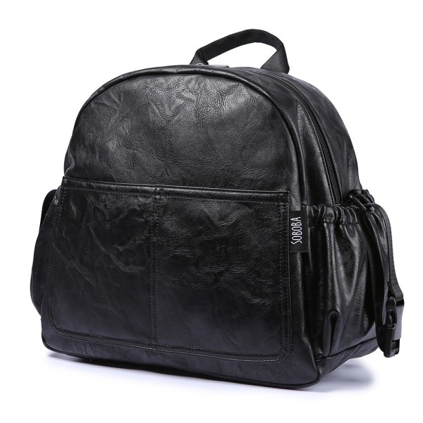 Fashion Maternity Nappy Changing Bag for Mother Black Large Capacity Fashion Diaper Bag with 2 Straps Fashion Maternity Nappy Changing Bag for Mother Black Large Capacity Fashion Diaper Bag with 2 Straps Travel Backpack for Baby