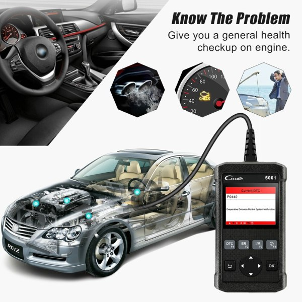 Launch X431 CR5001 OBD2 Scanner Engine Code Reader ODB2 Car Diagnostic Tool Free Update Support full 2 Launch X431 CR5001 OBD2 Scanner Engine Code Reader ODB2 Car Diagnostic Tool Free Update Support full OBD2 Automotive Scanner