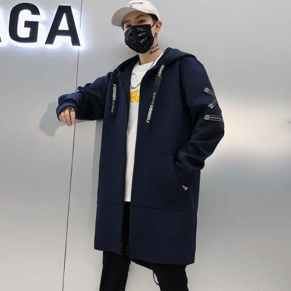 Long Jacket Men Print Fashion 2019 Spring Harajuku Windbreaker Overcoat Male Casual Outwear Hip Hop Streetwear 1 Long Jacket Men Print Fashion 2019 Spring Harajuku Windbreaker Overcoat Male Casual Outwear Hip Hop Streetwear Coats WG198