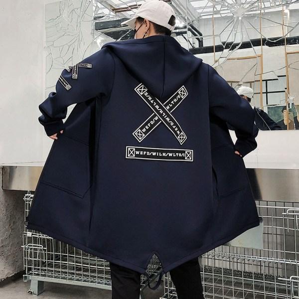 Long Jacket Men Print Fashion 2019 Spring Harajuku Windbreaker Overcoat Male Casual Outwear Hip Hop Streetwear 2 Long Jacket Men Print Fashion 2019 Spring Harajuku Windbreaker Overcoat Male Casual Outwear Hip Hop Streetwear Coats WG198