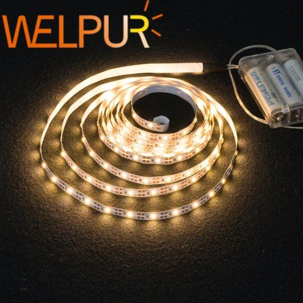 3AA Battery Power Led Strip Light SMD2835 50cm 1M 2M 3M 4M 5M Flexible Lighting Ribbon 3AA Battery Power Led Strip Light SMD2835 50cm 1M 2M 3M 4M 5M Flexible Lighting Ribbon Tape White/Warm White Strip Backlight