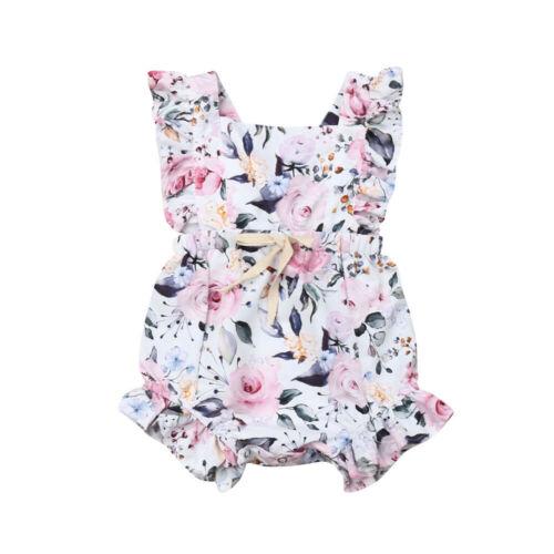 3M 18M Newborn Infant Baby Girls Romper Clothes Outfit Summer Jumpsuit Playsuit 3M-18M Newborn Infant Baby Girls Romper Clothes Outfit Summer Jumpsuit Playsuit