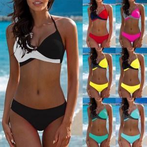 7 Colors Womens Padded Push up Bra Tankini Bikini Set 2019 Swimsuit Low Waist Bathing Suit Innrech Market.com
