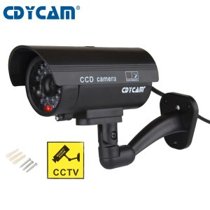 Cdycam Fake Dummy Camera Bullet Waterproof Outdoor Indoor Security CCTV Surveillance Camera With Flashing Red LED Innrech Market.com