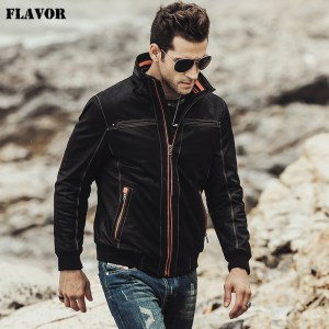 FLAVOR 2017 NEW Men s Real leather coat Padding cotton warm Autumn Winter male Genuine Leather Innrech Market.com