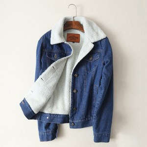Spring Autumn Winter New 2019 Women lambswool jean Coat With 4 Pockets Long Sleeves Warm Jeans Innrech Market.com