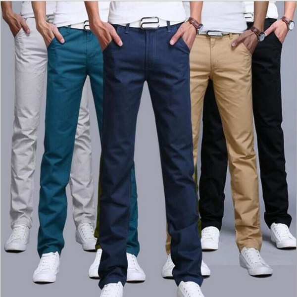 TANGYAXUAN New Design Casual Men pants Cotton Slim Pant Straight Trousers Fashion Business Solid Khaki Black TANGYAXUAN New Design Casual Men pants Cotton Slim Pant Straight Trousers Fashion Business Solid Khaki Black Pants Men 28-38